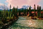Title: Lake Louise Village DawnPentax Me Super