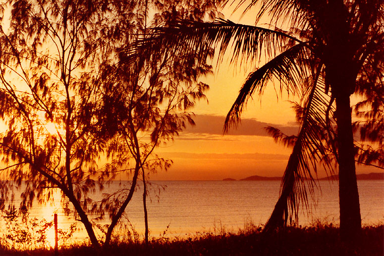 Sunset over the Barrier Reef