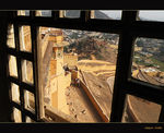 Title: The view from Amber Fort