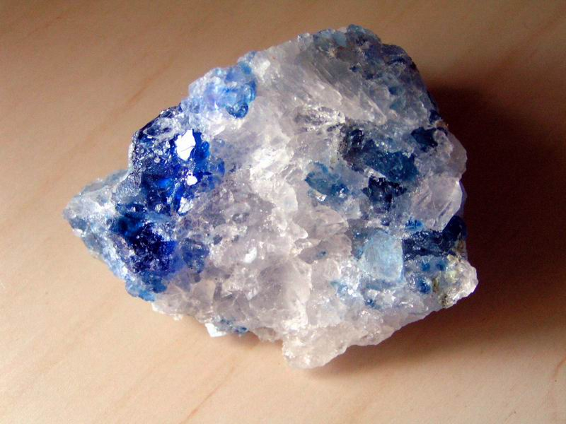 Blue and white stone