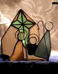Title: Crib in stained glass