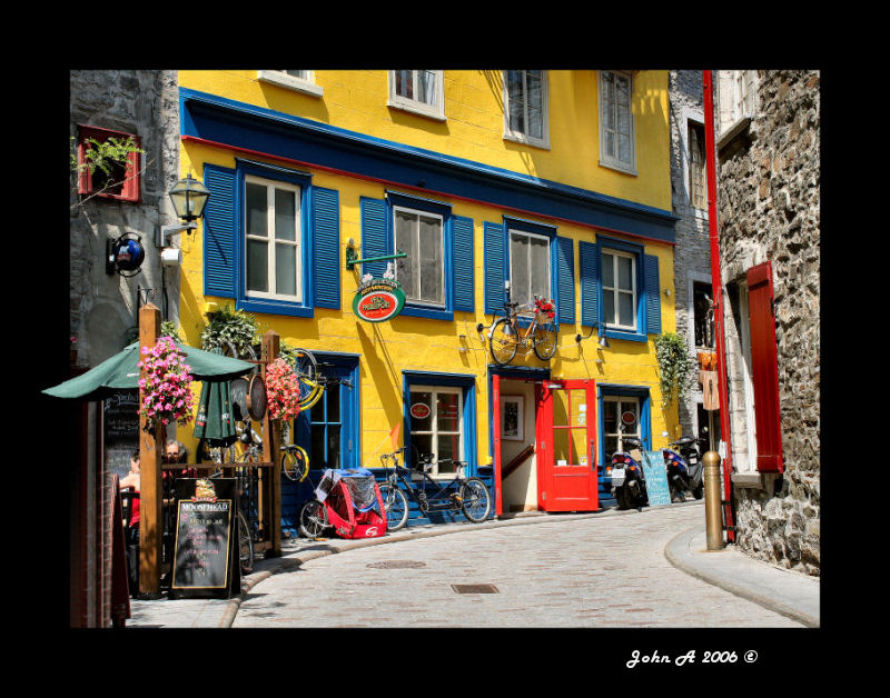.. the streets of Old Quebec...