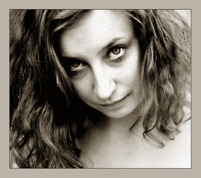 sepia-grey portrait