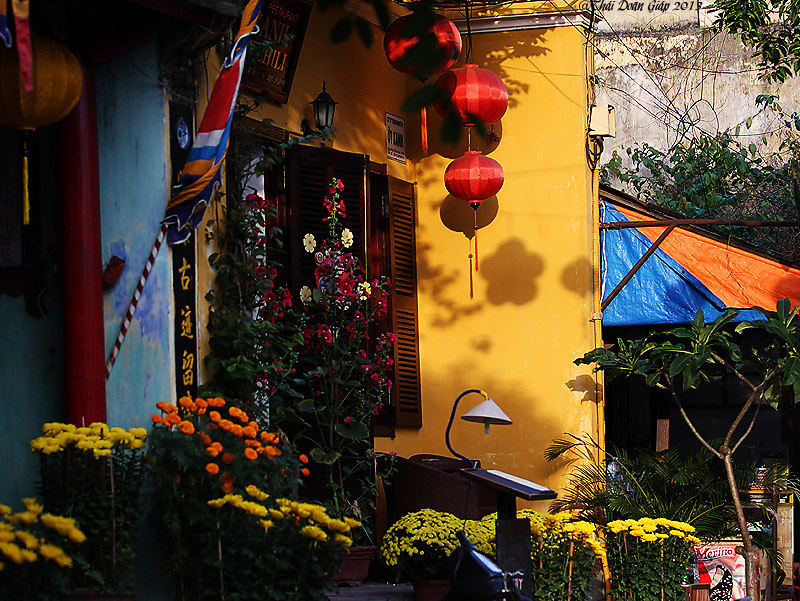 A corner of a house in Hoi An city
