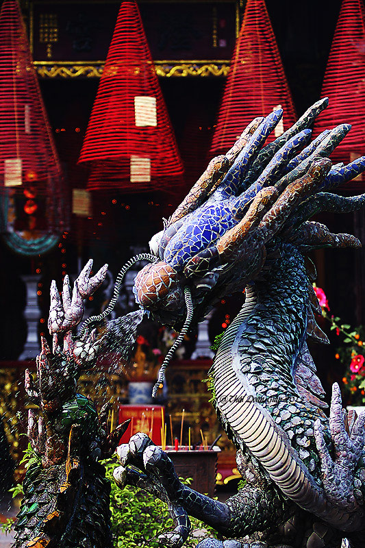 Dragon at a temple