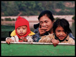 Title: Woman with children on the boatCanon Eos 88