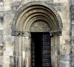 Title: Entrance Lund CathedralLeica V-Lux 4