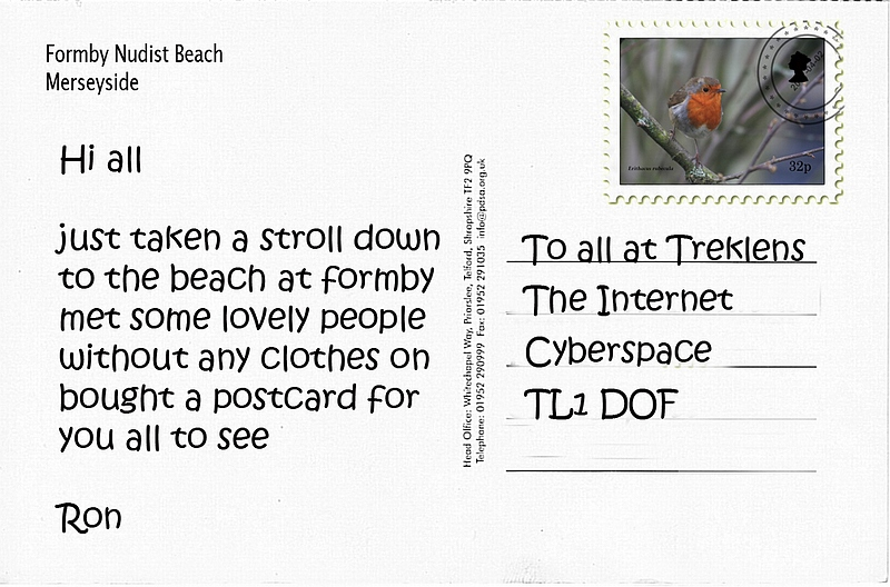 A Postcard from Formby Beach
