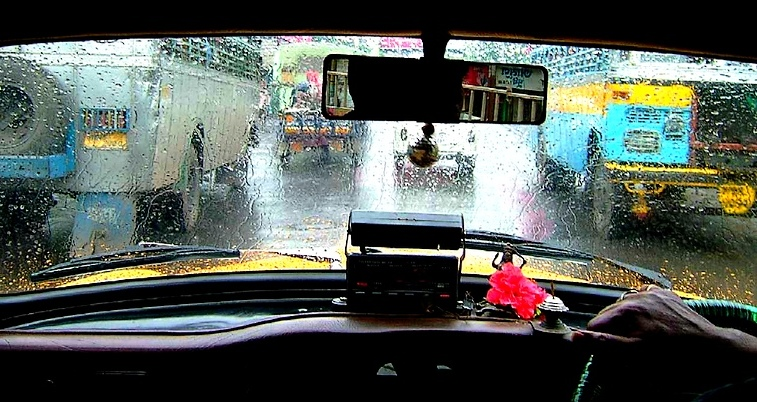 On a Rainy Day in a Cab