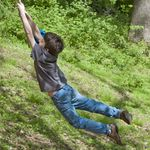 Title: Phillip on the rope swing
