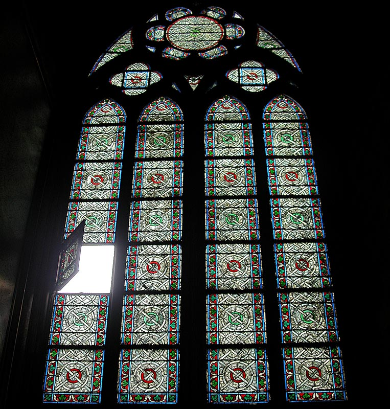 Open Pane of Stained Glass