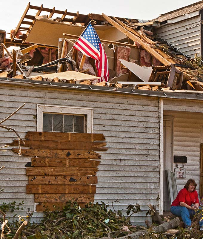 Tornado Damage in Tuscaloosa, Alabama