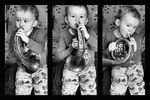 Title: little horn player.Canon EOS 40D