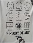 Title: History of Art on T-Shirt