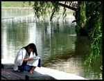 Title: Reading by the RiverSony Cybershot