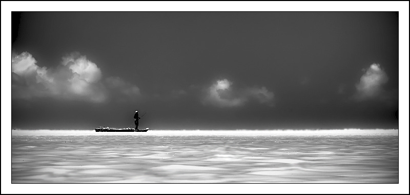 The lonely fisherman ...