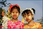 Title: Painted faces of Burmese Children IVCanon 450D Rebel XSi