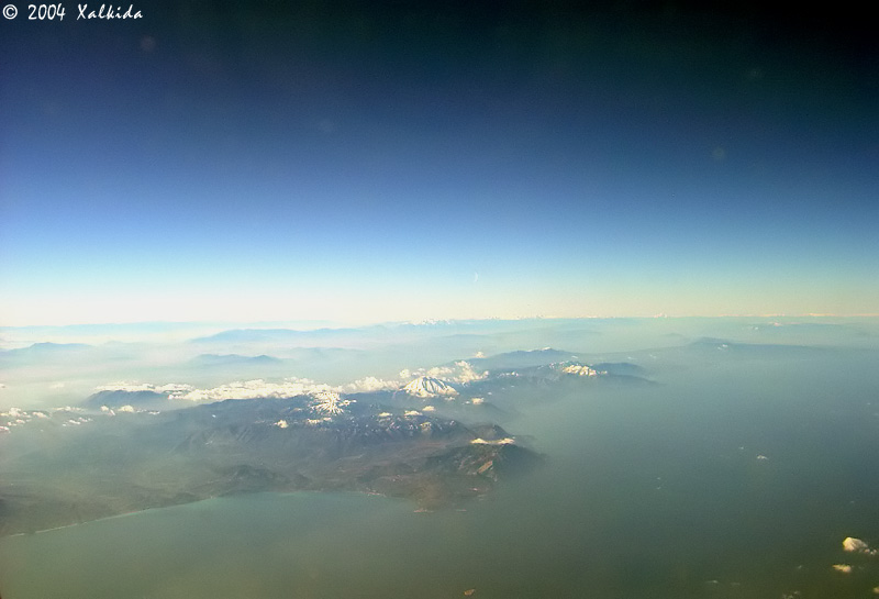 South Evia from 33,000 feet!