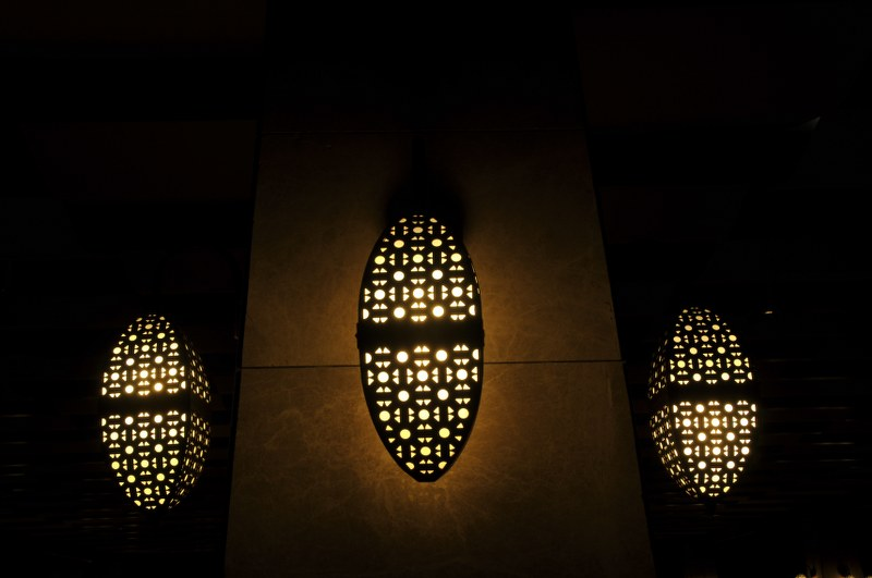 night and lamps