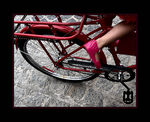 Title: red bike, pink shoe