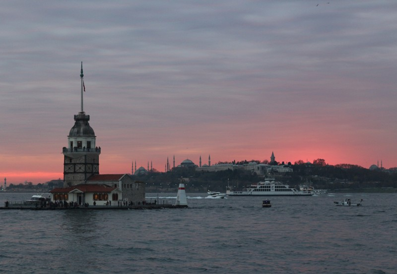 Maiden Tower in sunset