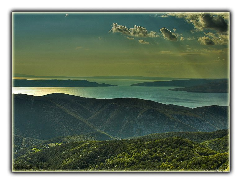 view from the velebit