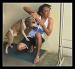 Title: The dog and his boy...Canon Powershot A410