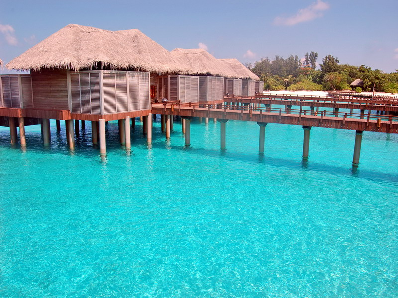Over Water in Maldives