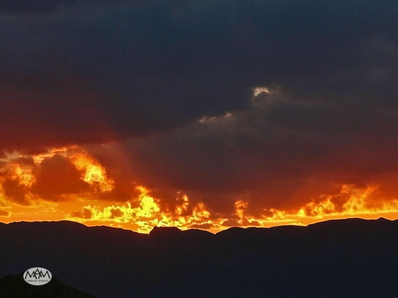 Flaming clouds