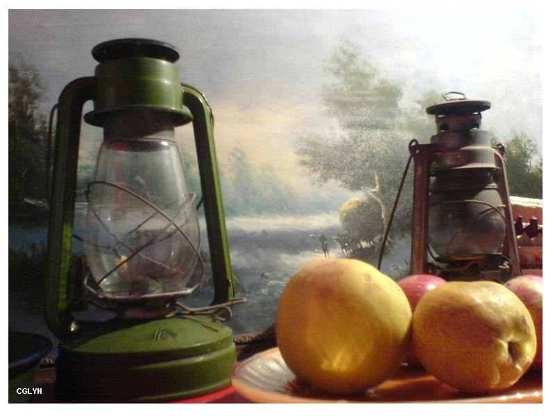 fruits and candles